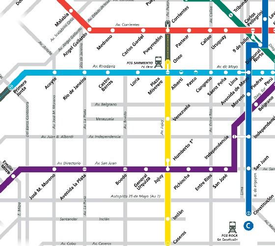 VIAJAR A BUENOS AIRES SUBTE En BUENOS AIRES - Argentina subte map